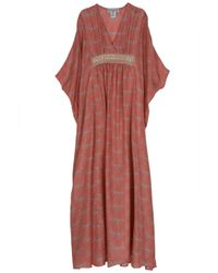 Paul & Joe | Pink Germain Silk Kaftan Gown | Lyst
