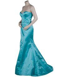 Reem Acra | Blue Jasmine Silk Gown | Lyst