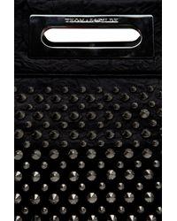 Thomas Wylde | Black Studded Leather Clutch | Lyst