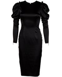 Thomas Wylde | Black Purple Heart Silk Dress | Lyst