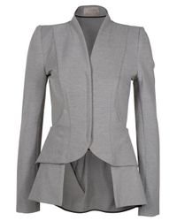 Willow | Gray Tailored Bustle Drape Jacket | Lyst
