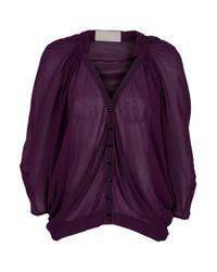 Willow | Purple Gathered Voluminous Shirt | Lyst