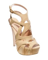 Alejandro Ingelmo - Natural 140mm Patent Overlayed Suede Cage Sandal - Lyst