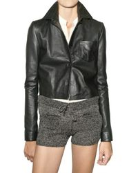 American Retro - Black Blazer Leather Jacket - Lyst