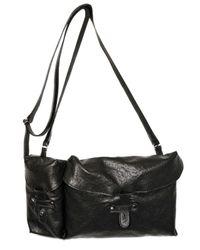 Ann Demeulemeester | Black Lambskin Shoulder Bag | Lyst