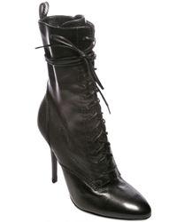 Balmain - Black Pointed Toe Boots - Lyst
