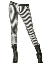 Balmain | Black Striped Low-rise Skinny Jeans | Lyst