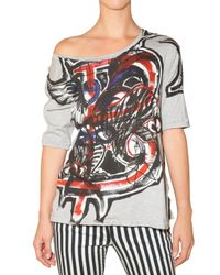 Balmain | Multicolor Printed Logo Patch Jersey T-shirt | Lyst