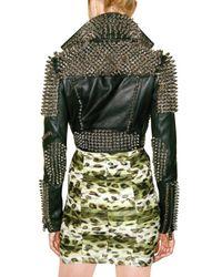 Burberry Prorsum - Black Studded Leather Jacket - Lyst