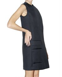 Calvin Klein | Blue Double Faced Cotton Canvas Dress | Lyst