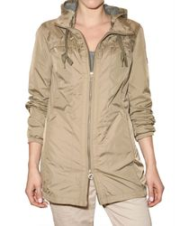 Closed - Brown Nylon Parka Jacket - Lyst