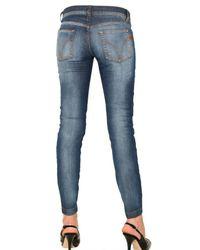 Dolce & Gabbana | Blue Stretch Denim Pretty Skinny Jeans | Lyst
