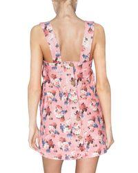 Dolce & Gabbana - Pink Ortensie Linen Canvas Dress - Lyst