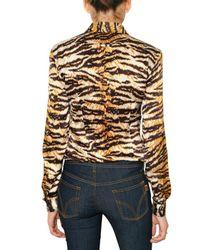Dolce & Gabbana   Multicolor Tiger Print Stretch Satin Shirt   Lyst