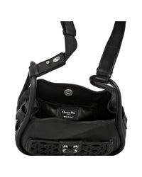 Dior | Black Calfskin Cannage Lattice Pocket Small Crossbody Bag | Lyst