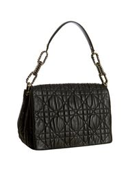 Dior | Black Cannage Quilted Lambskin Flap Small Shoulder Bag | Lyst