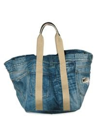 Dolce & Gabbana | Blue Denim and Nappa Top Handle | Lyst