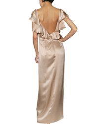 DSquared² - Natural Chloecelin Long Dress - Lyst
