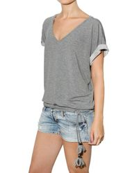 DSquared² - Gray Viscose Thin Fleece T-shirt - Lyst
