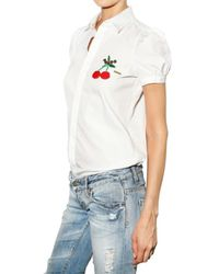 DSquared² - White Cherry Detail Blouse - Lyst