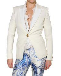 Emilio Pucci | White Wool Silk Gabardine Jacket | Lyst