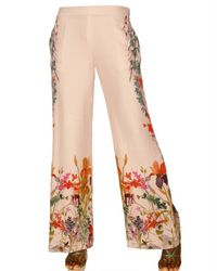 Etro | Multicolor Printed Envers Satin Trousers | Lyst