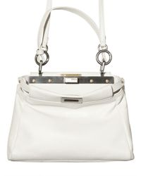 Fendi - White Peek A Boo Mini Top Handle - Lyst