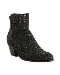 Giuseppe Zanotti   Black Glitter Ankle Boots   Lyst