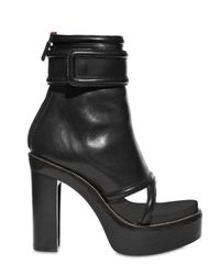 Givenchy | Black 120mm Ankle Strap Open Toe Boots | Lyst
