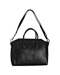 Givenchy | Black Calfskin Antigona Medium Bag | Lyst