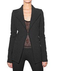 Givenchy   Black Leopard Jacquard Stretch Knit Jacket   Lyst