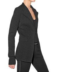 Givenchy | Black Leopard Jacquard Stretch Knit Jacket | Lyst
