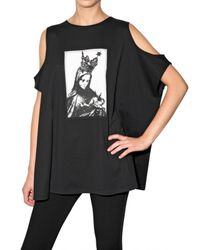 Givenchy - Black Madonna Cut–out Sleeve T–shirt - Lyst