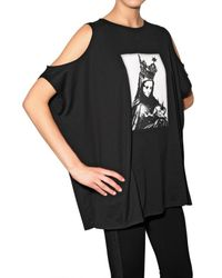 Givenchy | Black Madonna Cut–out Sleeve T–shirt | Lyst