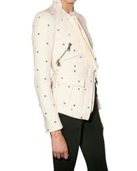 Givenchy | Natural Stone-washed Canvas Crystal Jacket | Lyst