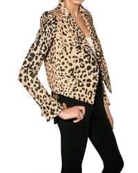 Givenchy - Multicolor Leoaprd Print Cotton Gabardine Jacket - Lyst