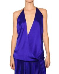 Haider Ackermann | Blue Satin Top | Lyst