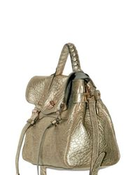 Mulberry - Metallic Oversized Alexa Grainy Metal Top Handle - Lyst