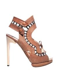 Nicholas Kirkwood | Brown 130mm Karung Metal Trim and Net Sandals | Lyst