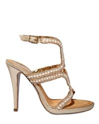 Rene Caovilla - Metallic 115mm Mother Of Pearl Swarovski Sandals - Lyst