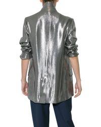 Richard Nicoll | Metallic Unstructured Lamè Jacket | Lyst