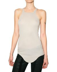 Rick Owens | Natural Ribbed Tank Top | Lyst