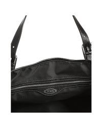 Tod's - Black Coated Canvas G-bag Flap Tote - Lyst