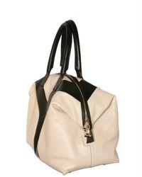 Saint Laurent - White Easy Medium Bicolor Top Handle - Lyst