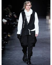 Ann Demeulemeester - Black Fustian Cargo Trousers for Men - Lyst