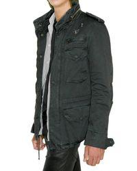Balmain - Black Military Parka Gabardine Jacket for Men - Lyst