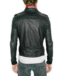 Balmain - Green Pins Punk Calfskin Leather Jacket for Men - Lyst
