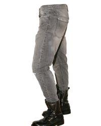Balmain | Black Stitched Knee Washed Denim Jeans for Men | Lyst
