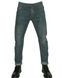 Balmain | Blue Distressed Denim Slim Fit Jeans for Men | Lyst