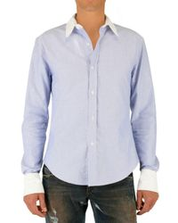 Band of Outsiders | Blue Contrasting Collar and Cuff Oxford Shirt for Men | Lyst